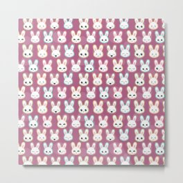 Easter gifts | Easter Bunny | Easter decorations | Spring decor | Rabbit gifts Metal Print