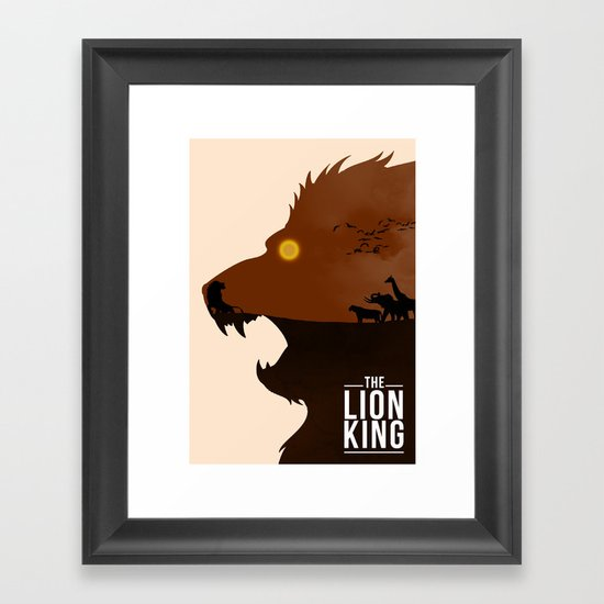 The Lion King Framed Art Print