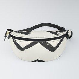 ZigZag Stripes on Ivory Fanny Pack