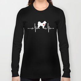 Alaskan Malamute dog heartbeat Long Sleeve T-shirt