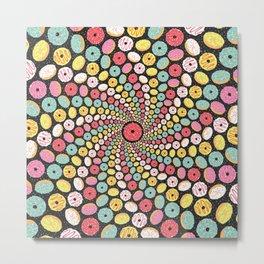 Donut Swirl Metal Print