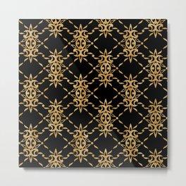 Classique Art Deco Luxury Pattern Metal Print