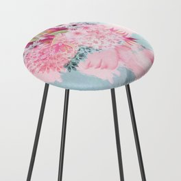 Woman in flowers II Counter Stool