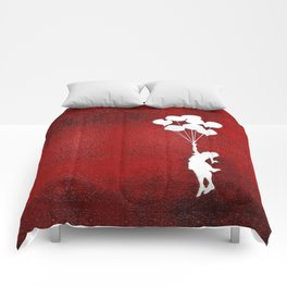Banksy the balloons Girls silhouette Comforters