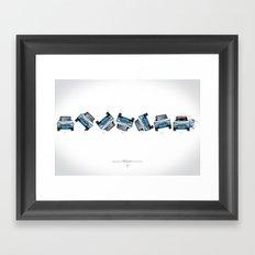 Ari Vatanen-Bruno Berglund, 1989 Paris Dakar crash sequence Framed Art Print