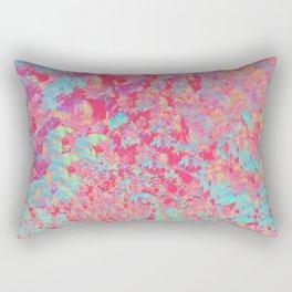 Pink a Blue Abstract Paintng Rectangular Pillow