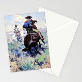 Across the Intervening Desert the Eyes of the Two Men Met in Grim Defiance - William Herbert Dunton Stationery Cards