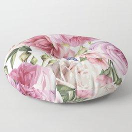 WATERCOLOR ROSES Floor Pillow
