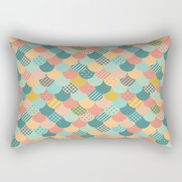 Patchwork Mermaid Scales Rectangular Pillow