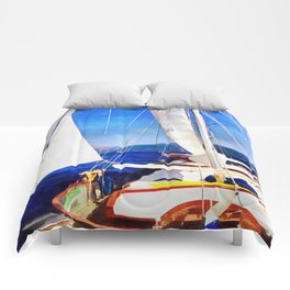 Land Was Created For Boats To Visit Comforters