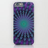 Cool Hued Purple Blue Braided Rug Fractal iPhone 6s Slim Case