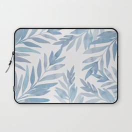 Muted Blue Palm Leaves Laptop Sleeve