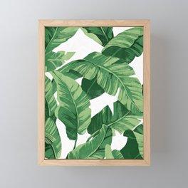 Tropical banana leaves IV Framed Mini Art Print