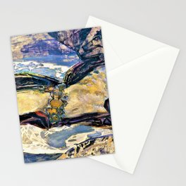 Mikhail Vrubel - Flying Demon - Digital Remastered Edition Stationery Cards