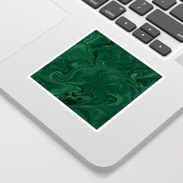 Modern Cotemporary Emerald Green Abstract Sticker