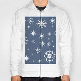 Blue Winter Dream #1 #snowflakes #decor #art #society6 Hoody