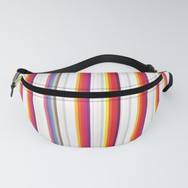 Colorful Stripes Barcode 80s Fanny Pack