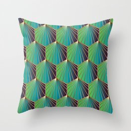 Glam Rock Ocean Blue Throw Pillow