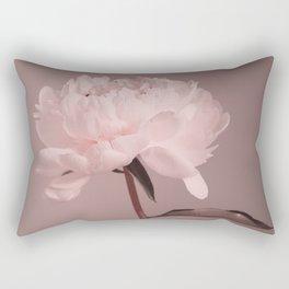 Single peony (pink) Rectangular Pillow