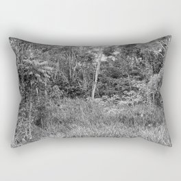 The Forest in Monochrome Rectangular Pillow
