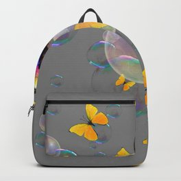SURREAL YELLOW BUTTERFLIES & SOAP BUBBLES Backpack