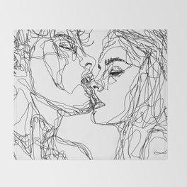 kiss more often (B & W) Throw Blanket