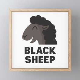 Black Sheep Framed Mini Art Print