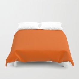 Orange Soda Solid Summer Party Color Duvet Cover