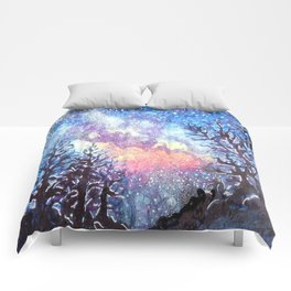 Galaxy Spring Night by CheyAnne Sexton Comforters