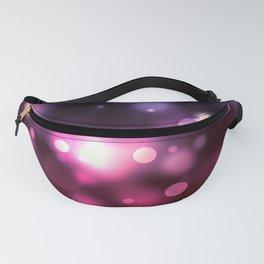 Purple Stars Bokeh Fanny Pack