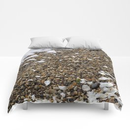 Snow, Pebbles, and Petals Comforters