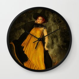 Fire Witch Wall Clock