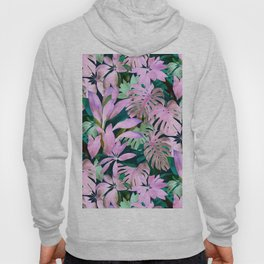 Tropical Night Magenta & Emerald Jungle Hoody