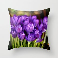 The Crocus Family  Throw Pillow