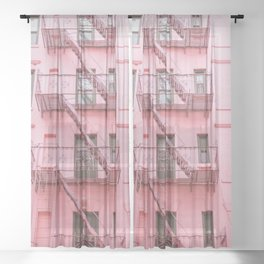 Pink Soho NYC Sheer Curtain
