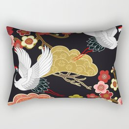 Japanese bird pattern Rectangular Pillow