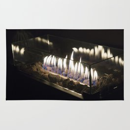 Flames in the Night Rug