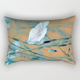 Flax turquoise Rectangular Pillow