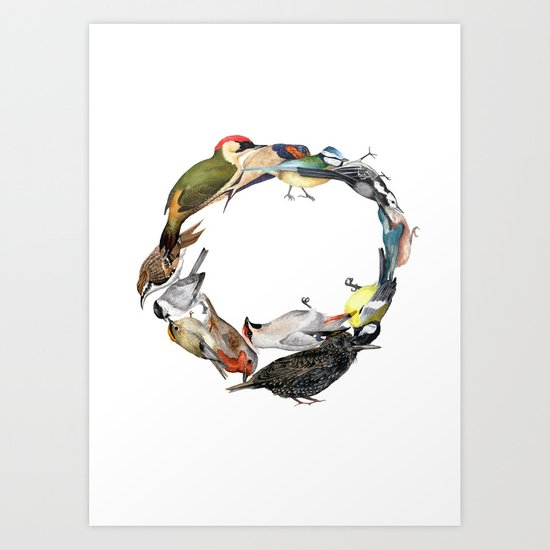 Bird Wreath Art Print