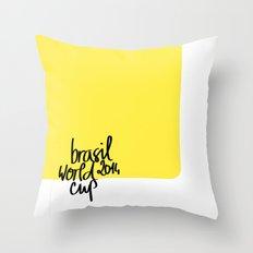 Brazil World Cup 2014 - Poster n°3 Throw Pillow