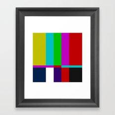 Color Glitch Framed Art Print