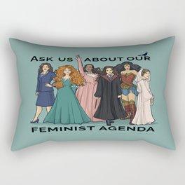 Feminist Agenda Rectangular Pillow