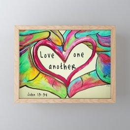 Love One Another John 13:34 Framed Mini Art Print