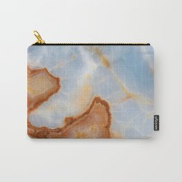 Baby Blue Marble with Rusty Veining Carry-All Pouch