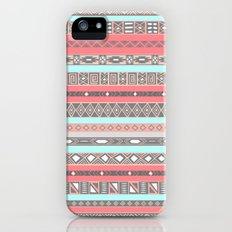 Peach Rose Baby Blue Aztec Tribal Native Pattern iPhone (5, 5s) Slim Case
