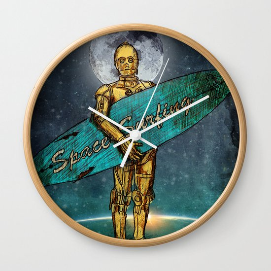 Space Surfer Wall Clock