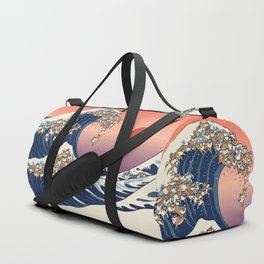 The Great Wave of Shiba Inu Duffle Bag