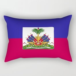 Haiti flag emblem Rectangular Pillow
