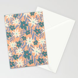 Just Peachy Floral Stationery Cards
