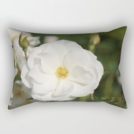 White Flowers and Buds by Reay of Light Photography Rectangular Pillow